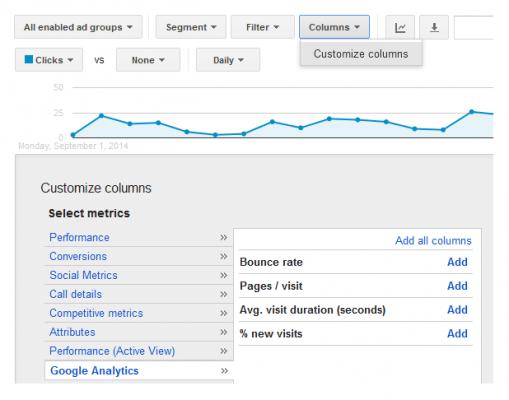 Данни за следене от Analytics