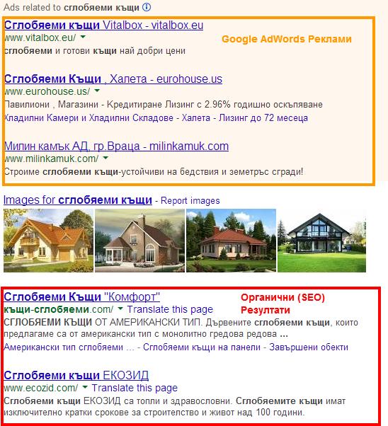 SEO - Органични Резултати в Google