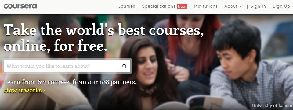 Coursera - платформа за безплатно обучение