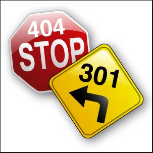 404 error or 301 redirect