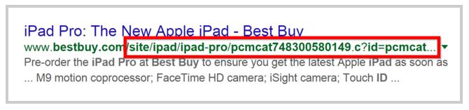 Пример за неправилен URL адрес