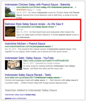 """Резултати от търсенето за """"индонезийски сос Сатай"""""""