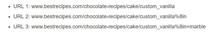 URLs с динамично генерирани параметри