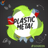 Пластмаса и метал за рециклиране
