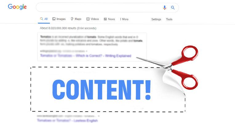 Как се премахват страници от резултатите на Google