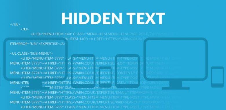 Скритият текст може да доведе до ръчно SEO наказание